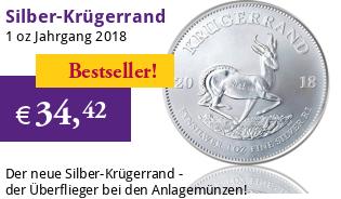 Krügerrand 1 oz Silber 2018