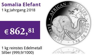 1 kg Somalia Elefant 2018 African Wildlife
