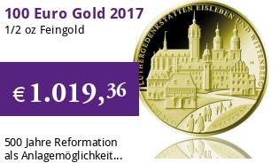 Goldeuro 1/2 oz 2017 A - Luthergedenkstätten Eisleben und Wittenberg