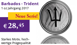 1 oz Barbados Trident Silber 2017