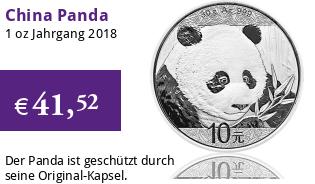 China Silberpanda 30 g 2018
