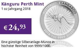 Silber Känguru 1 oz 2018 Perth Mint