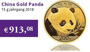 China Gold Panda 15 g 2018