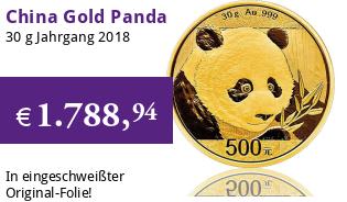 China Gold Panda 30 g 2018