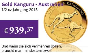 Gold Kangaroo 1/2 oz 2018