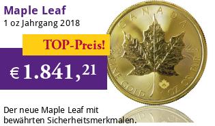Maple Leaf Gold 1 oz 2018