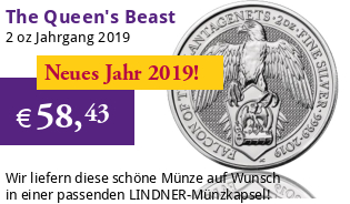 The Queen's Beast - Falcon of the Plantagenets 2 oz 2019