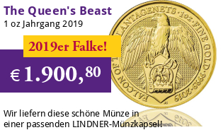 The Queen's Beast - Falcon of the Plantagenets 1 oz 2019