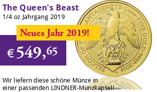The Queen's Beast - Falcon of the Plantagenets 1/4 oz 2019