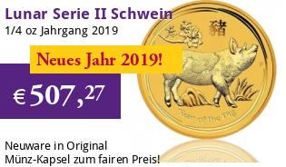 Lunar Serie II 1/4 oz 2019 Schwein Gold