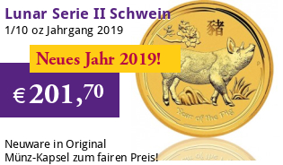 Lunar Serie II 1/10 oz 2019 Schwein Gold