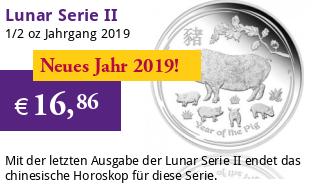 Lunar Serie II 1/2 oz 2019 Schwein Silber