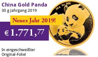 China Gold Panda 30 g 2019