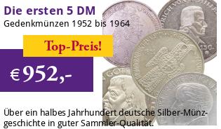5 DM Silber-Gedenkmünzen-Set