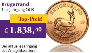 Krügerrand 1 oz Gold 2019