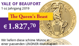 The Queen's Beast - Yale of Beaufort 1 oz 2019