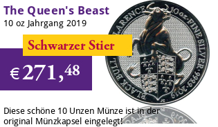 The Queen's Beast - Black Bull of Clarence 10 oz 2019