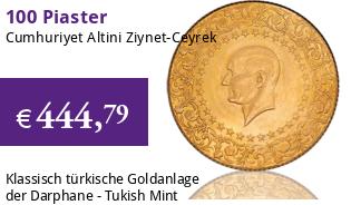 Cumhuriyet Altini Ziynet 100 Piaster - Ceyrek