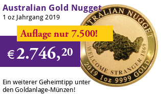 Australien Gold Nugget 1 oz 2019 Perth Mint - Welcome Stranger