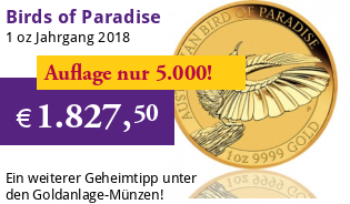 Birds of Paradise Australien Gold 1 oz 2018 Perth Mint