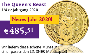 The Queen's Beast - White Lion of Mortimer 1/4 oz 2020