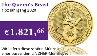 The Queen's Beast - White Lion of Mortimer 1 oz 2020