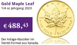 Maple Leaf Gold 1/4 oz 2020