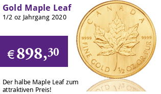 Maple Leaf Gold 1/2 oz 2020