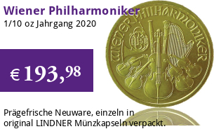 Wiener Philharmoniker Gold 1/10 oz 2020