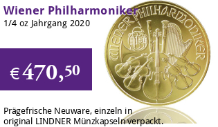 Wiener Philharmoniker Gold 1/4 oz 2020