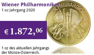 Wiener Philharmoniker Gold 1 oz 2020
