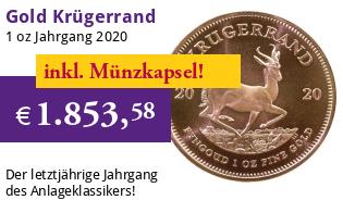 Krügerrand 1 oz Gold 2020