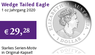 Australien Wedge Tailed Eagle 2020 Silber
