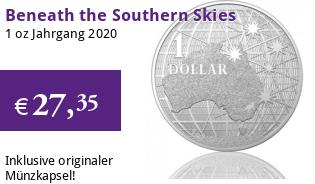 Beneath the Southern Skies RAM 1 oz Silber 2020