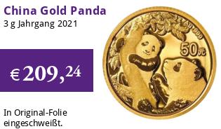 China Gold Panda 3 g 2021