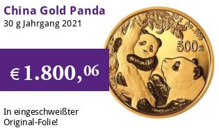 China Gold Panda 30 g 2021