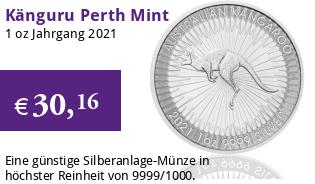 Silber K�nguru 1 oz 2021 Perth Mint