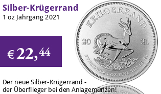 Krügerrand 1 oz Silber 2021