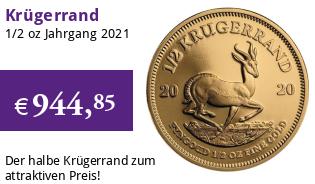 Krügerrand 1/2 oz Gold 2021