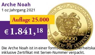 Arche Noah Gold 1 oz 2021