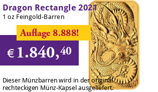 1 oz Gold Motiv-Barren 2021 Drache Perth Mint Rectangle