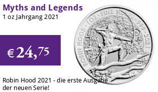 Myths and Legends Silbermünze 1 oz 2021 Robin Hood