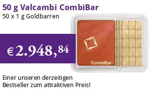 Valcambi CombiBar Gold-Barren 50 x 1 g