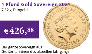 Gold Sovereign 1 Pfund 2021