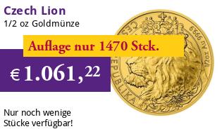 Gold Tschechischer L�we - 1/2 oz - 2021 - Czech Lion