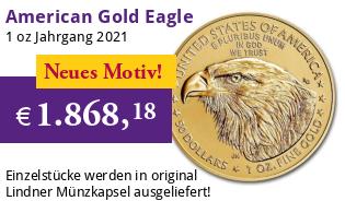 American Gold Eagle 1 oz 2021 Typ 2
