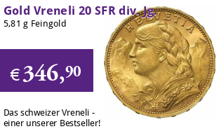 Gold Vreneli 20 SFR