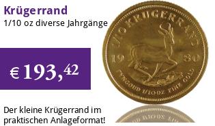 Krügerrand 1/10 oz div. Jg.