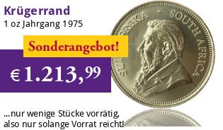 Sonderangebot - 1 oz Krügerrand 1975