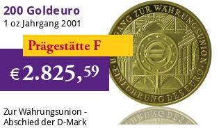 Goldeuro 1 oz 2002 F W�hrungsunion